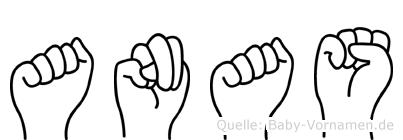 Anas im Fingeralphabet der Deutschen Gebärdensprache