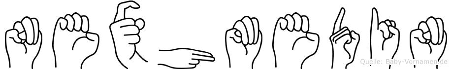 Nexhmedin im Fingeralphabet der Deutschen Gebärdensprache