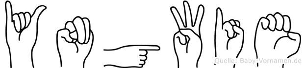 Yngwie im Fingeralphabet der Deutschen Gebärdensprache