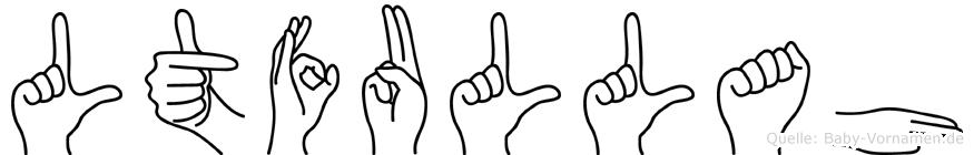 Lütfullah im Fingeralphabet der Deutschen Gebärdensprache