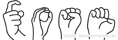 Xose im Fingeralphabet der Deutschen Gebärdensprache