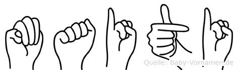Maiti in Fingersprache für Gehörlose