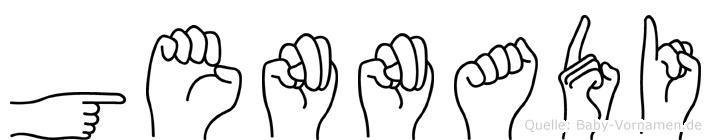 Gennadi im Fingeralphabet der Deutschen Gebärdensprache