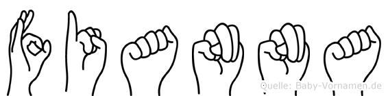 Fianna in Fingersprache für Gehörlose