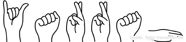 Yarrah im Fingeralphabet der Deutschen Gebärdensprache