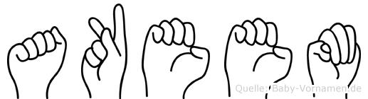 Akeem in Fingersprache für Gehörlose