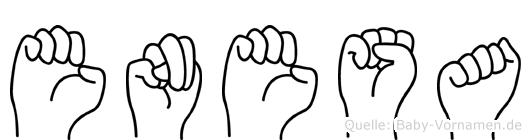 Enesa im Fingeralphabet der Deutschen Gebärdensprache