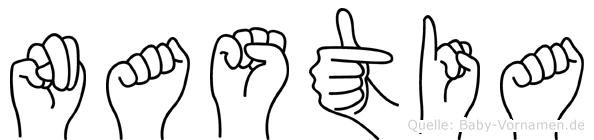 Nastia in Fingersprache für Gehörlose