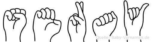 Seray im Fingeralphabet der Deutschen Gebärdensprache