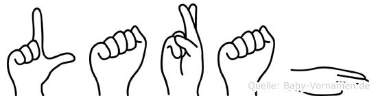 Larah im Fingeralphabet der Deutschen Gebärdensprache