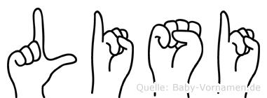 Lisi in Fingersprache für Gehörlose