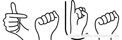 Taja im Fingeralphabet der Deutschen Gebärdensprache