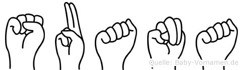 Suana in Fingersprache für Gehörlose