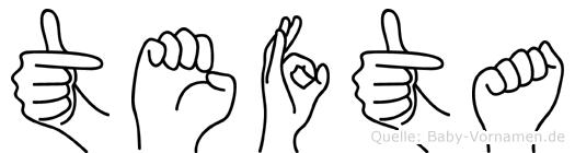 Tefta in Fingersprache für Gehörlose