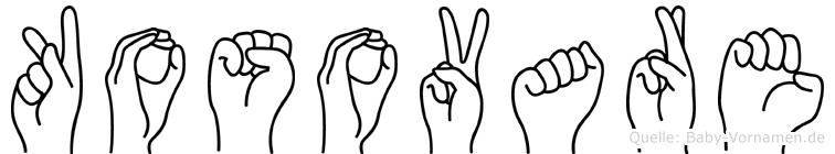 Kosovare im Fingeralphabet der Deutschen Gebärdensprache
