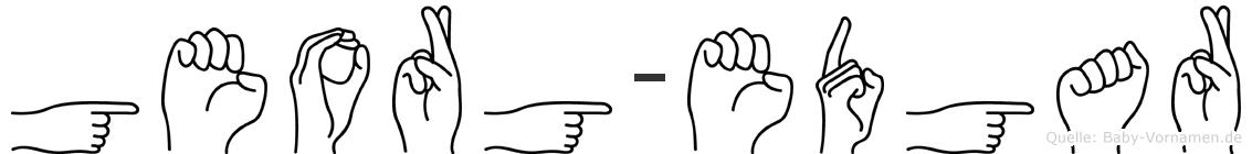 Georg-Edgar im Fingeralphabet der Deutschen Gebärdensprache