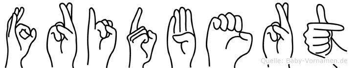 Fridbert in Fingersprache für Gehörlose