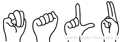 Nalu im Fingeralphabet der Deutschen Gebärdensprache