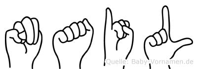 Nail in Fingersprache für Gehörlose