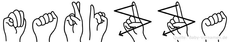 Marizza im Fingeralphabet der Deutschen Gebärdensprache