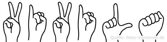 Vivila im Fingeralphabet der Deutschen Gebärdensprache