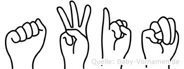 Awin in Fingersprache für Gehörlose