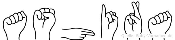 Ashira in Fingersprache für Gehörlose