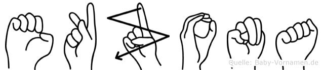 Ekzona in Fingersprache für Gehörlose