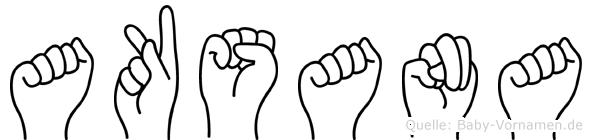 Aksana im Fingeralphabet der Deutschen Gebärdensprache