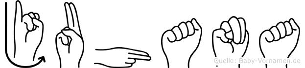 Juhana in Fingersprache für Gehörlose