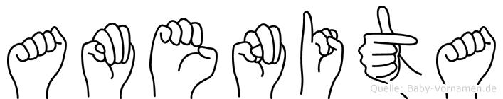 Amenita in Fingersprache für Gehörlose