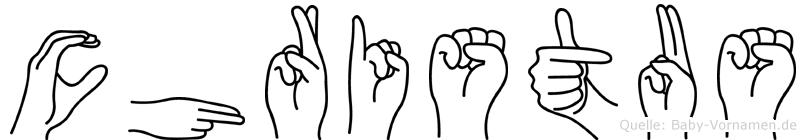 Christus im Fingeralphabet der Deutschen Gebärdensprache