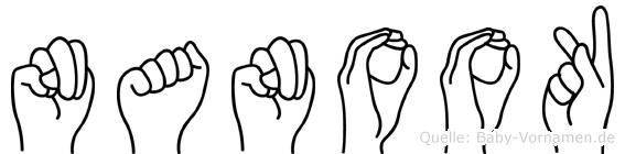 Nanook in Fingersprache für Gehörlose