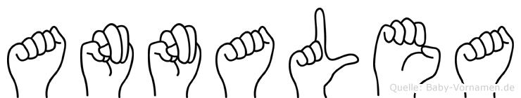 Annalea in Fingersprache für Gehörlose