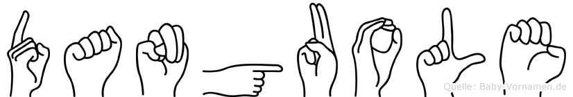 Danguole im Fingeralphabet der Deutschen Gebärdensprache