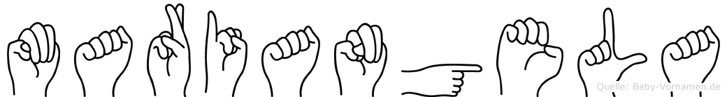 Mariangela in Fingersprache für Gehörlose