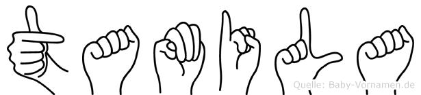 Tamila in Fingersprache für Gehörlose