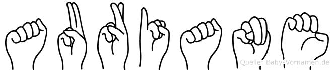Auriane in Fingersprache für Gehörlose