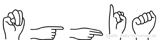 Nghia in Fingersprache für Gehörlose