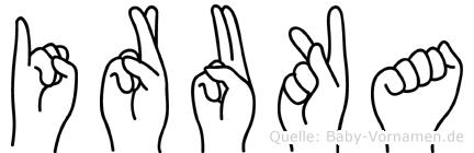 Iruka im Fingeralphabet der Deutschen Gebärdensprache