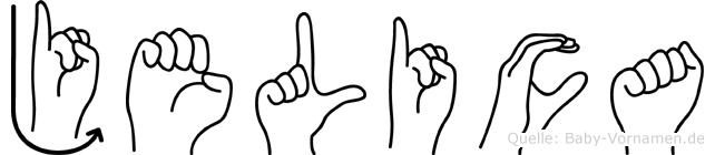 Jelica im Fingeralphabet der Deutschen Gebärdensprache