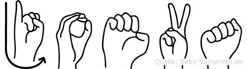 Joeva in Fingersprache für Gehörlose