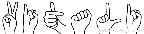 Vitali im Fingeralphabet der Deutschen Gebärdensprache