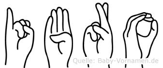 Ibro in Fingersprache für Gehörlose