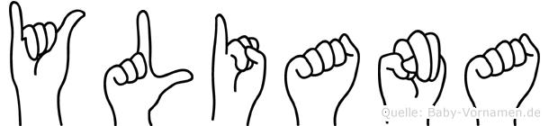 Yliana in Fingersprache für Gehörlose