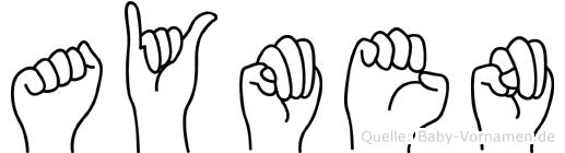 Aymen in Fingersprache für Gehörlose