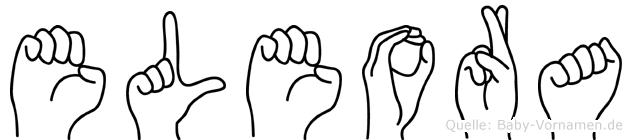 Eleora in Fingersprache für Gehörlose