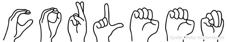 Corleen in Fingersprache für Gehörlose