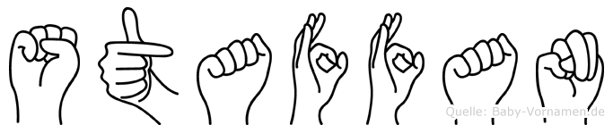 Staffan in Fingersprache für Gehörlose