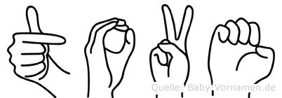 Tove in Fingersprache für Gehörlose